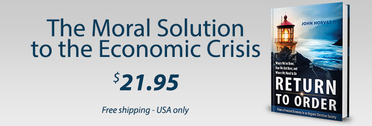 Moral Solution to the Economic Crisis