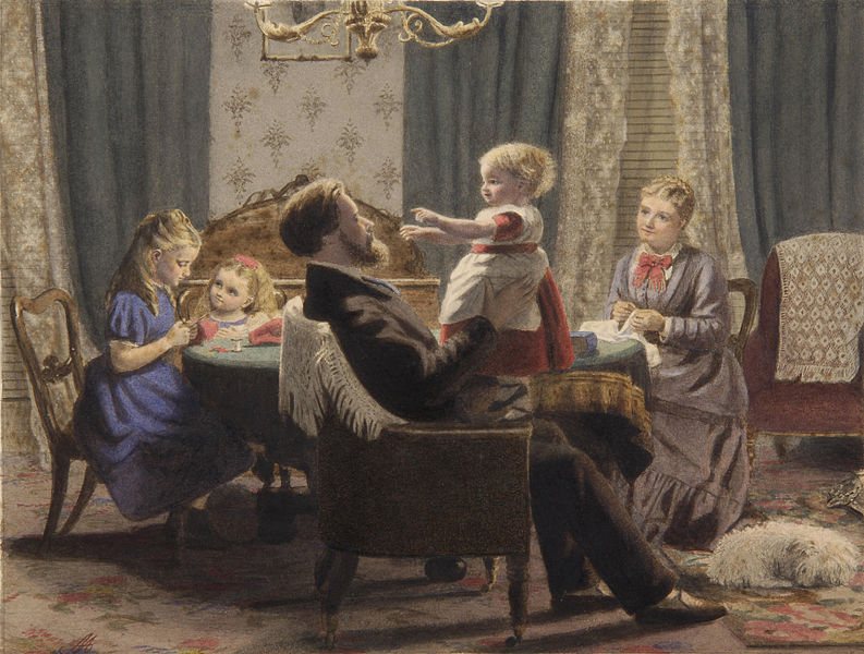793px-A_family_in_a_drawing_room_19c How Do We Return to Order?