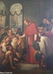 San_Carlos_Borromeo_Repartiendo_Limosna_al_Pueblo_by_Jose_Salome_Pina_-_1853-copy-216x300 The Church Has Always Supported Prosperity