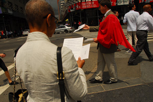 "MR._BJ_fliering With ""Return to Order"" on Fifth Avenue"