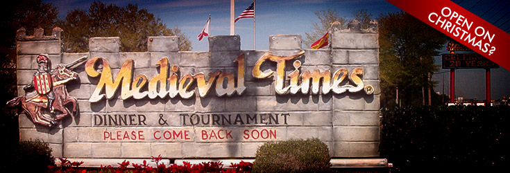 Medieval Times Open on Christmas