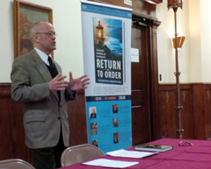 Mr. Norman Fulketson speaks at St. John Cantius Church, Chicago, IL Return to Order