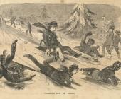 sledding boys fun