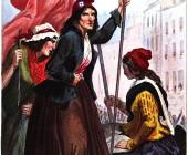 Femmes révolutionnaires qui excitaient le peuple