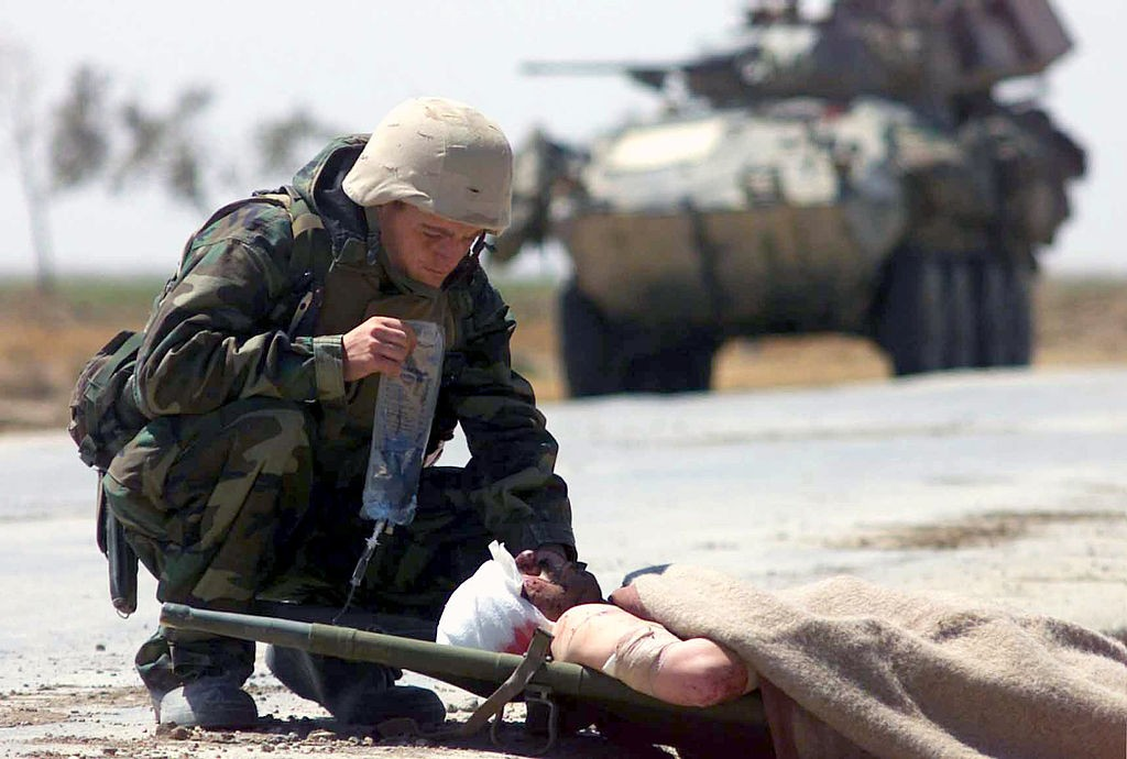 Wounded soldier Iraq