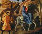 DIVINE PROVIDENCE CAPTION The Flight into Egypt by Fra Angelico 1450. As God protected and provided for the Holy Family so to does he intend to take care of all families.-L