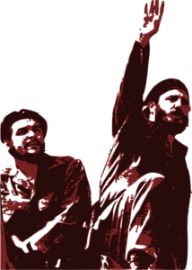 Fidel Castro and Che Guevara red communist guerillas