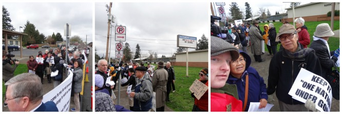 Portland-Oregon-Sacramento-Elem.-School-protest-Collage2 Standing Against Satan in Portland