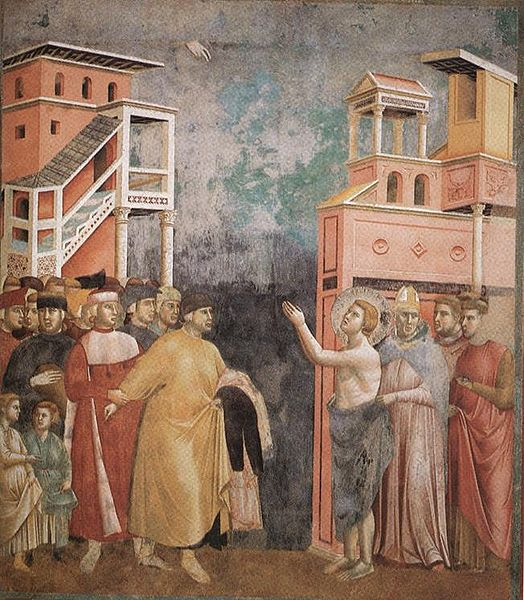 524px-Giotto_-_Legend_of_St_Francis_-_-05-_-_Renunciation_of_Wordly_Goods He chose a greater chivalry: St. Francis of Assisi (Part 1)