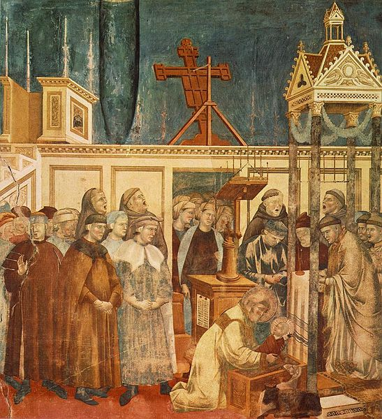 547px-Giotto_-_Legend_of_St_Francis_-_-13-_-_Institution_of_the_Crib_at_Greccio He Chose a Greater Chivalry: St. Francis of Assisi (Part 4)