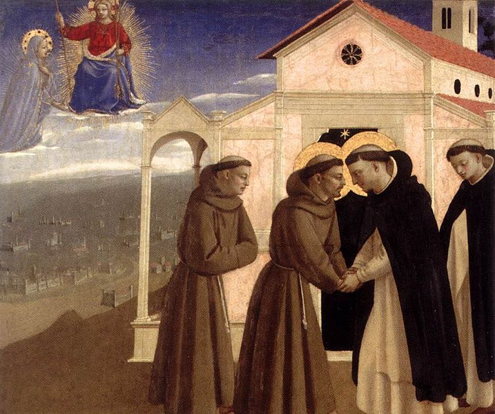 Angelico_incontro_tra_san_francesco_e_san_domenico He Chose a Greater Chivalry: St. Francis of Assisi (Part 3)
