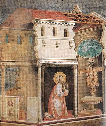 Giotto_St_Francis_Miracle_of_the_Crucifix1 He chose a greater chivalry: St. Francis of Assisi-(Part 2)