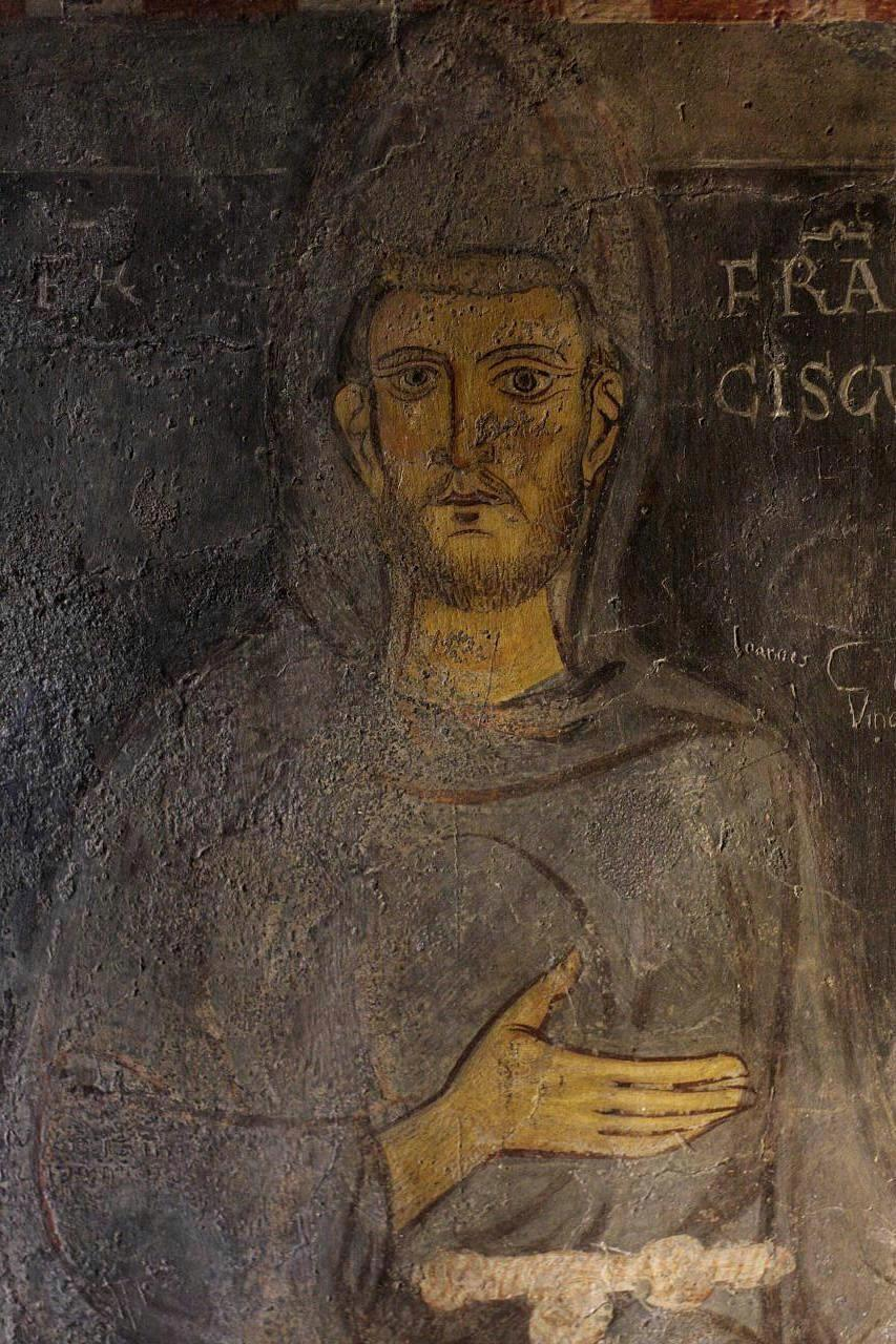 St._Francis._Sacro_Speco_at_Subiaco._Fresco._1224_or_1228. He Chose a Greater Chivalry: St. Francis of Assisi (Part 6)