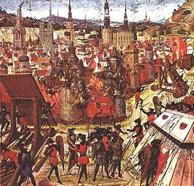 1099jerusalem The Crusaders attack Jerusalem