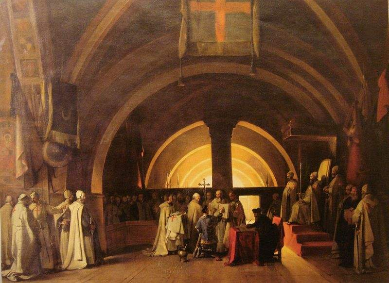 800px-Ordination_of_Jacques_de_Molay_in_1265_at_the_Beaune_commandery_by_Marius_Granet_1777_1849 Military Orders
