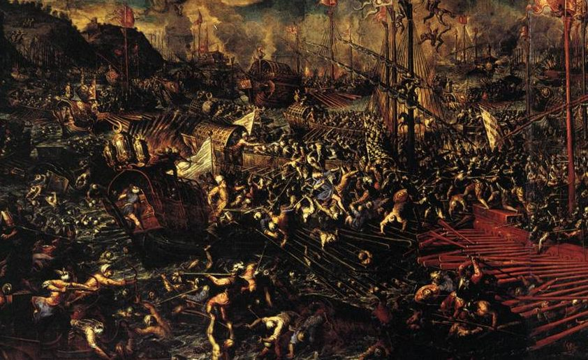 Battle_of_Lepanto_1595-1605_Andrea_Vicentino-e1507328551686 How Our Lady Granted Victory at Lepanto