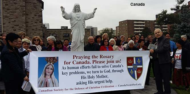 Canada-2018 Rosary Rallies in the Public Square