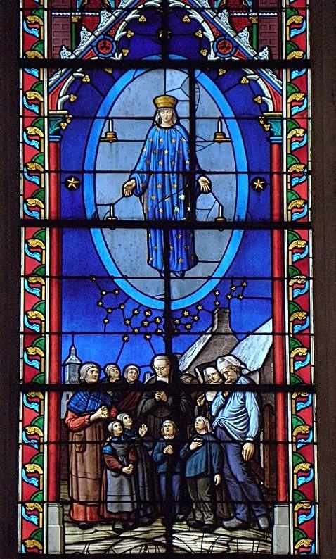 Pontmain_53_Basilique_Vitrail_4 Our Lady of Hope Novena