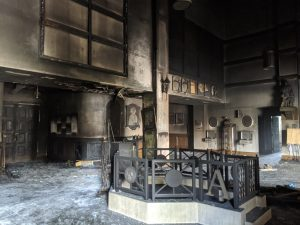 Restoration of Order at Queen of Peace after Fire Bombing